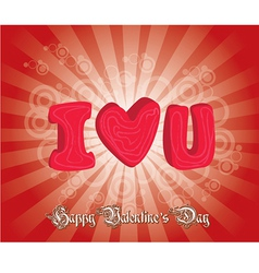 happy valentines day cards with ornaments hearts vector image