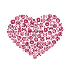 heart gear vector image vector image