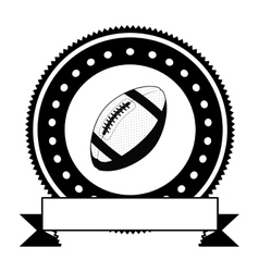 Isolated ball of american football design vector