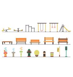 Kids playgroundkindergarten playground with vector