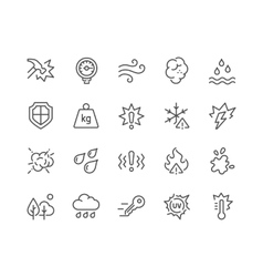 Line influence icons vector