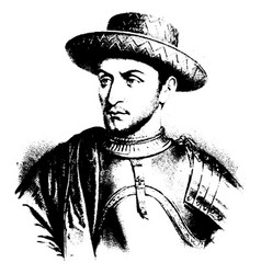 Louis xi of france vintage vector