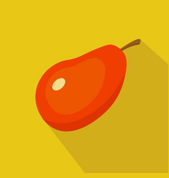 mango flat icon vector image vector image