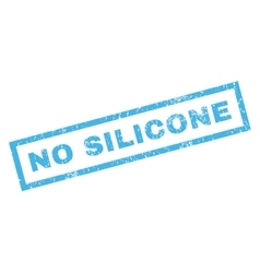 No silicone rubber stamp vector
