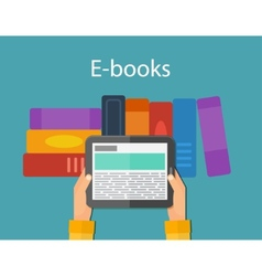 Online reading and E-book Mobile devices vector image