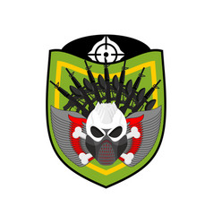 Paintball logo military emblem army sign skull in vector