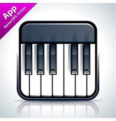 Piano musical app icon vector image vector image