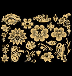 Russian patterns vector image vector image