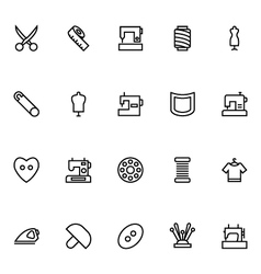 Sewing Line Icons 1 vector image vector image