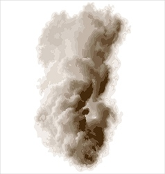 thick smoke vector image vector image