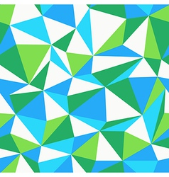triangle green and blue pattern seamless vector image