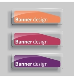 Transparency banners with glass elements vector