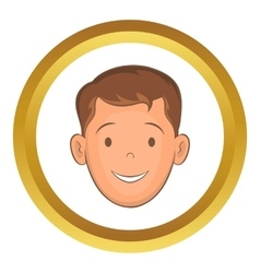 Male face with haircut icon vector