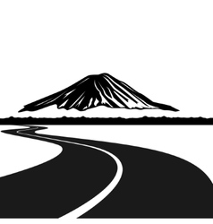 Road to mount fuji vector