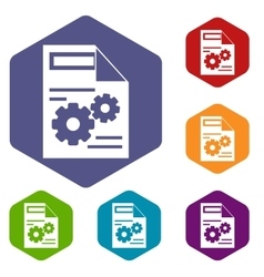 Web setting icons set vector