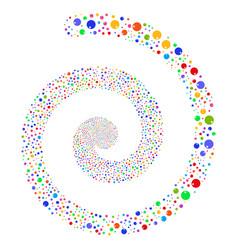 sphere fireworks spiral vector image