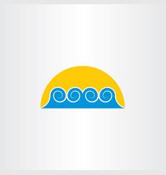 Tourism icon water wave sea symbol design element vector