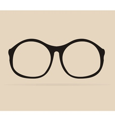 Black professor glasses shilouette vector image