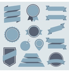 Stickers and badges set 8 flat style vector
