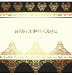 Card in traditional oriental style vector