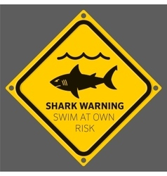 Shark area warning vector