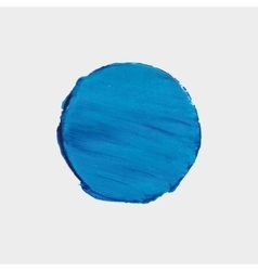 Round blue spot of paint acrylic texture vector