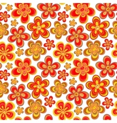 Seamless floral pattern in bright multiple vector