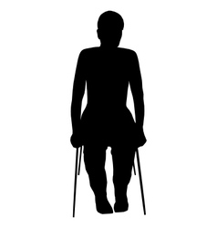 Silhouette of woman on chair vector image