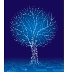 Binary tree vector image vector image