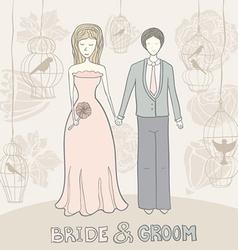 Brideandgroomflowers vector image