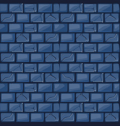 Cartoon blue stone wall texture vector