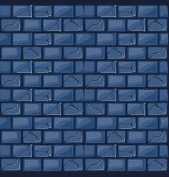 cartoon blue stone wall texture vector image vector image