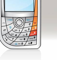 cellphone vector image vector image