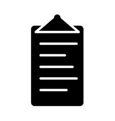 checklist silhouette icon flat design symbol vector image