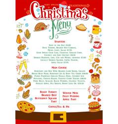 Chistmas menu layout vector