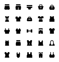 Clothes apparel and garments icons 3 vector