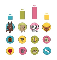 Dogs infographics elements vector