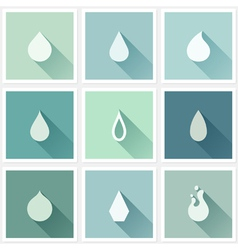 Drops Flat design elements with long shadow vector image vector image