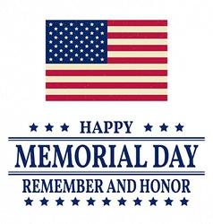 Happy memorial day background template happy vector