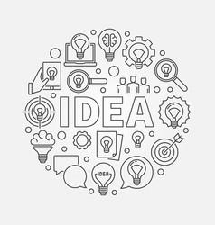 Idea round vector