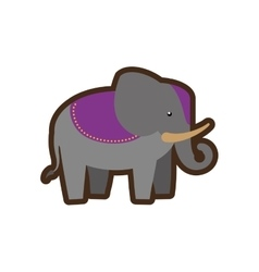 Indian elephant style design icon vector