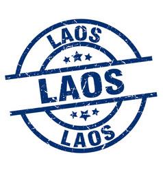 Laos blue round grunge stamp vector