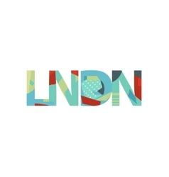 Lndn means london concept art inscription in vector