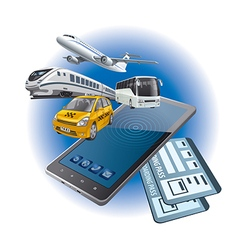 online tickets vector image vector image