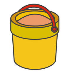 Sand bucket isolated icon vector