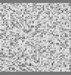 Seamles gray ktitted pattern vector