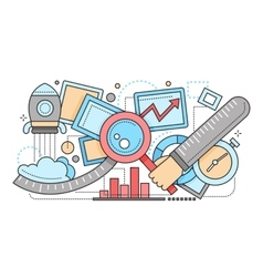 Search Optimiation - flat design vector image