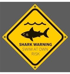 Shark area warning vector