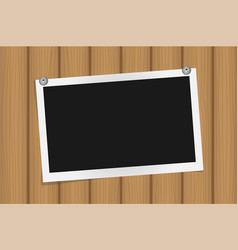 Square frame template on metal pins with shadows vector