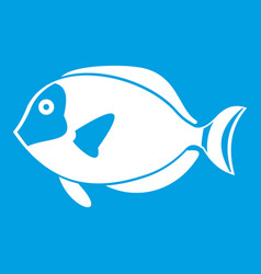 Surgeon fish icon white vector